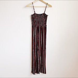 stretchy striped tube top calf-length jumper